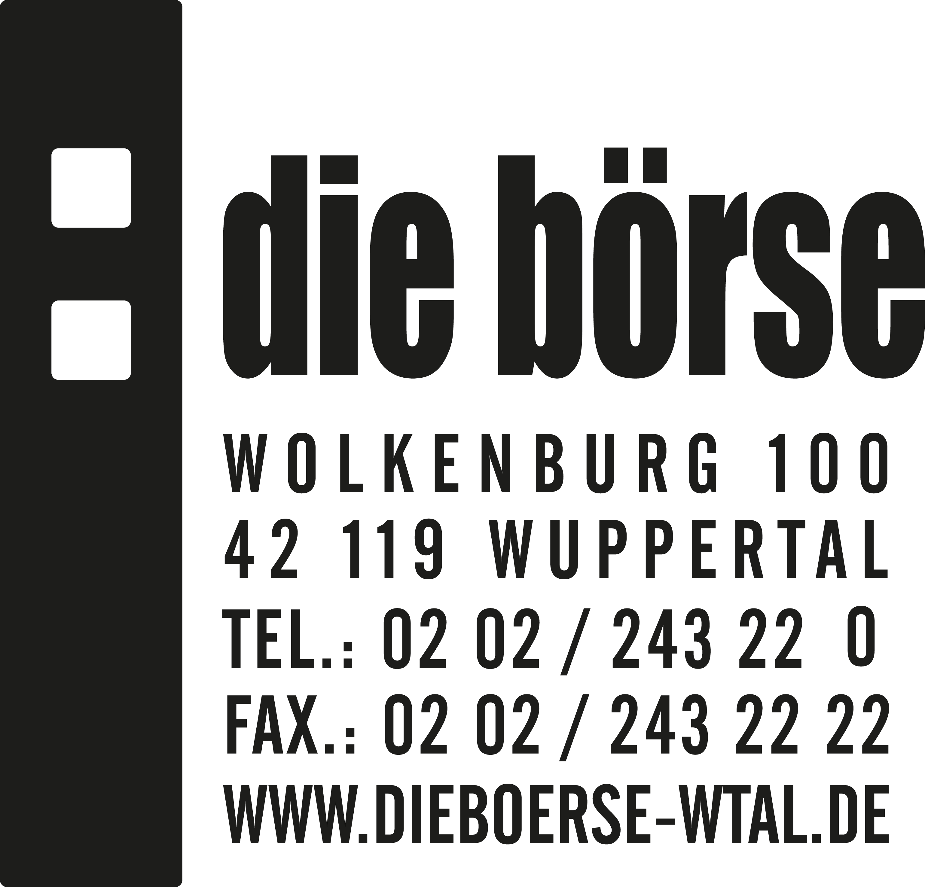 logo boerse hochkant schwarz